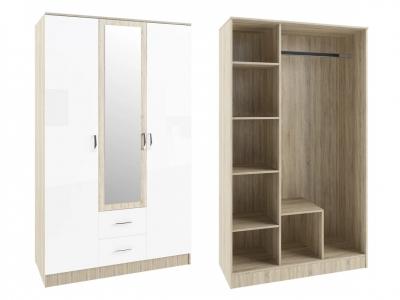 Шкаф Софи СШК1200.1 трехдверный 2 ящика