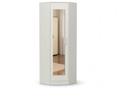 Шкаф угловой-2 Модуль с зеркалом Белый