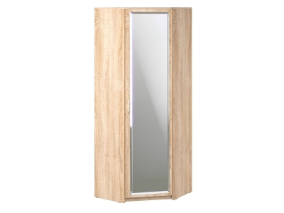 Шкаф угловой Дуэт Люкс 866х866х2300 с зеркалом Дуб Сонома светлый