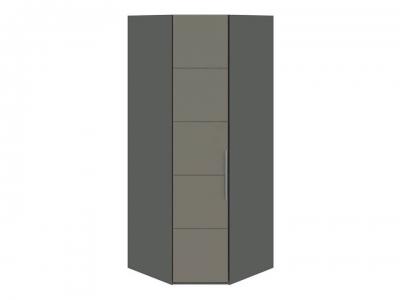 Шкаф угловой с 1 дверью Наоми СМ-208.07.06 Серый, Джут