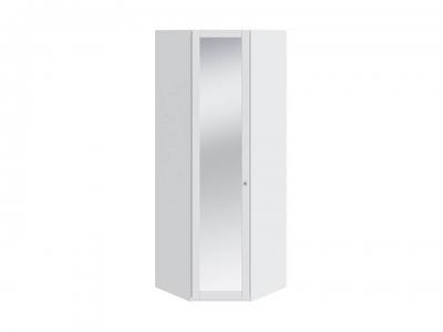 Шкаф угловой с 1 дверью с зеркалом Ривьера СМ 241.23.003 Белый