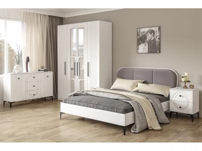 Спальня Валенсия Белый шагрень