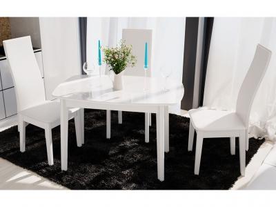 Стол обеденный Портофино СМ(ТД)-105.01.11(2) Белый глянец, стекло