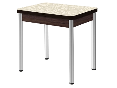 Стол раздвижной Ника опоры круглые хром венге #455356675