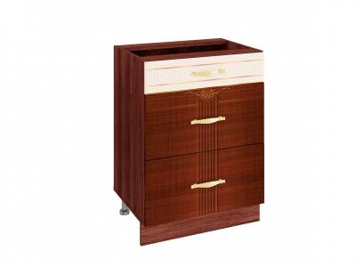 Стол с 3 ящиками плавное закрывание 11.91 Каролина 600х530х820