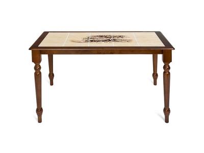 Стол с плиткой (ct3045p) Тёмный Дуб + Рисунок Дерево