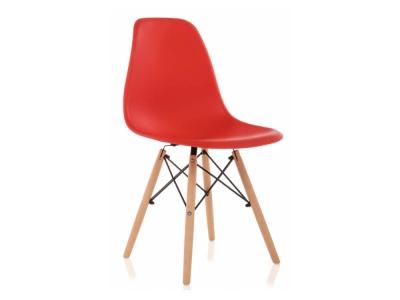 Стул деревянный Eames PC-015 красный