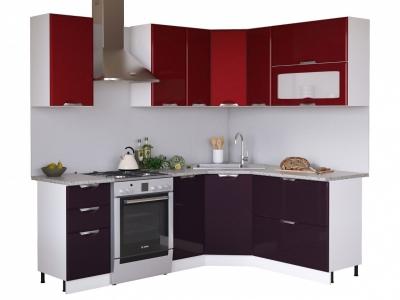 Угловая кухня Равенна Вива 1,65х1,65 бордо/фиолет